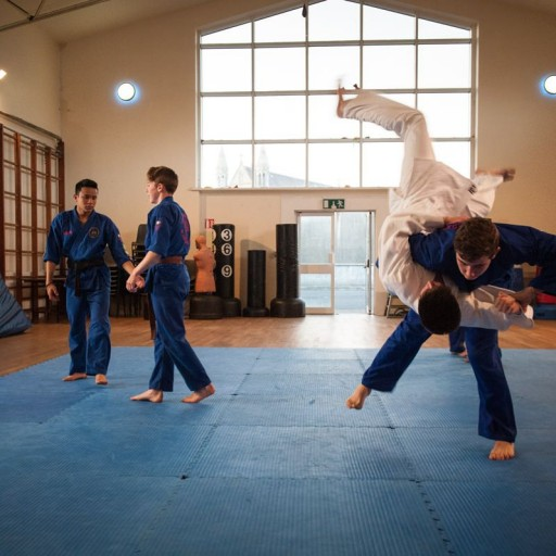 photo of Ju-jutsu students sparring martial arts